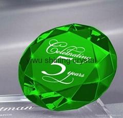 wedding favor colored crystal glass diamond
