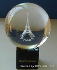 crystal glass football basketball globe golf ball for sports souvenirs