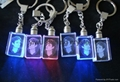 LED light crystal glass keychain keyring for promotional gifts