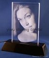 crystal glass photo frame for Valentines Birthday gifts 3