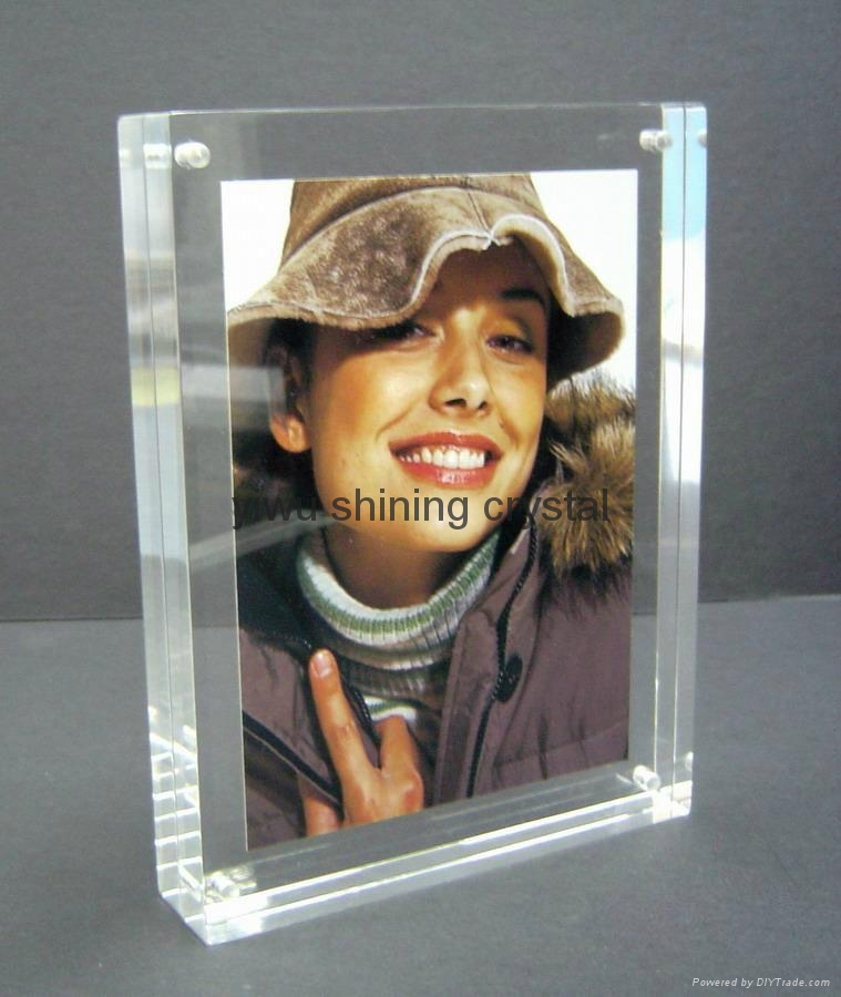 crystal glass photo frame for Valentines Birthday gifts 5