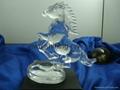 crystal glass horse animal figurine for