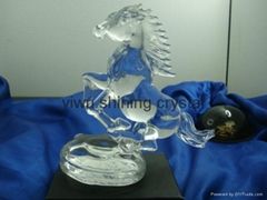 crystal glass horse animal figurine for souvenirs
