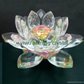 religious crystal glass lotus flower for