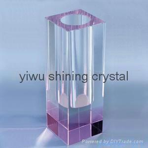 home decoration crystal glass flower vase 2
