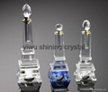 crystal glass car perfume bottle for