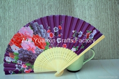Fancy Chiniese Crafts Bamboo Hand Fans Custom