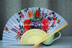 Beautiful Silk Material Hand Fans Bulk For Gifts