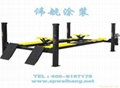 Four columns type lifting machine for