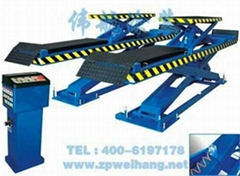 Large scissors type lifting machine
