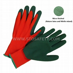 microfinish latex coated gloves