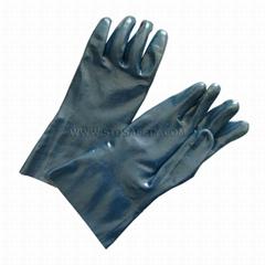 gauntlet nitrile coated gloves