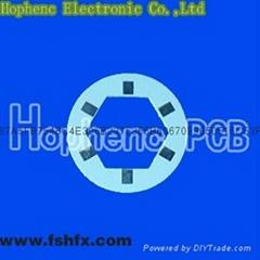 round HASL FR-4 LED PCB board of dia.3cm