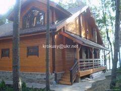 Glued beam wooden house 2