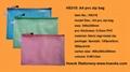 HS315  A4 pvc zipper bag