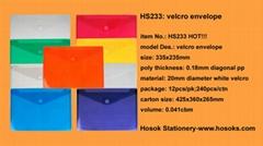 HS233 velcro ribbed enve