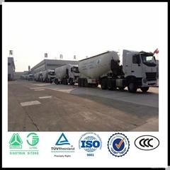 High quanlity 45M3 3 axles bulk cement transport semi trailer