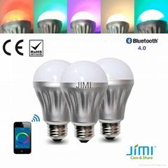 bluetooth led bulb of jimi wireless LED Bulb smartphone controlled led bulb