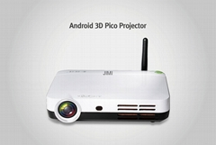 Q Shot3 Android mini 3D led  Portable Projector