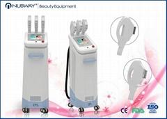 Latest new three handles ipl hair removal machine