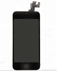 iPhone 5S LCD Screen Digitizer Touch  Panel Assembly Black with frame