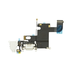 For iPhone 6 Dock Port & Headphone Jack Flex Cable Replacement - White