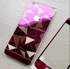 iPhone Color Tempered Mirror Diamond Protective Glass