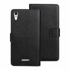 PU Wallet Leather Case for Sony Xperia T3 Stand Card Holder