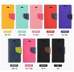 Mercury Wallet PU Flip Leather Stand Case For iPhone 4 5 6G 6 Plus&Samsung