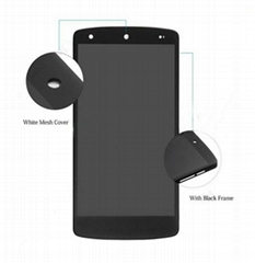 Digitizer LCD Display with Front Housing (No Small Parts) for LG Nexus 5 D820