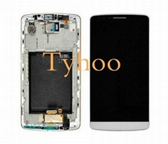 Touch Digitizer LCD Display with Frame for LG G3 D850/D851/D852/D855 White