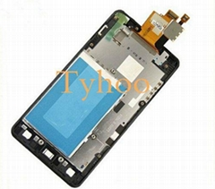 Touch Digitizer LCD Display with Frame LG Optimus G E975  E973 LS970 E971 F180