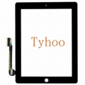 Black Touch Screen Glass Digitizer Replacement for Apple iPad 3 & 4