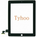 Black Touch Screen Glass Digitizer Replacement For iPad 2
