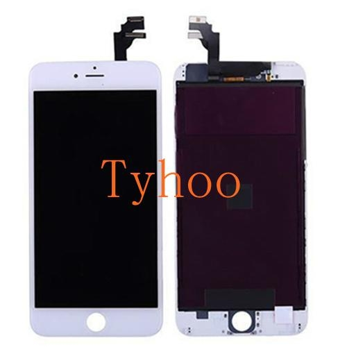 "Apple iPhone 6 Plus 5.5"" LCD Screen and Digitizer Assembly with Frame White"