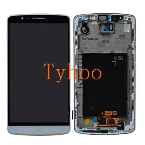 Touch Digitizer LCD Display with Frame for LG G3 D850/D851/D852/D855 Gray 1