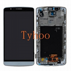 Touch Digitizer LCD Display with Frame for LG G3 D850/D851/D852/D855 Gray