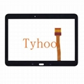 """Glass Touch Screen Digitizer for 10.1"""" Galaxy Tab 4 T530- White/Black"""
