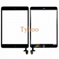 iPad Mini 1 & 2 Glass Digitizer Touch Screen IC Chip Flex Black Assembly