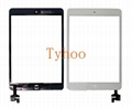 iPad Mini 1 & 2 Glass Digitizer Touch Screen IC Chip Flex White Assembly