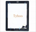 Glass Touch Screen Digitizer + Home Button Assembly for iPad 2 Black