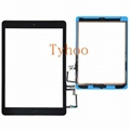 Black  iPad Air (5th generation) Digitizer Touch Screen Home Button Assembly