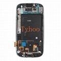 Touch Digitizer LCD Display Assembly+Frame for Samsung S3 I9300 I9305 White