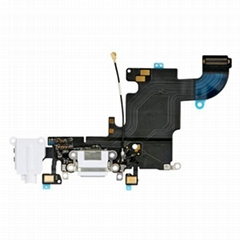 "iPhone 6S 4.7"" Headphone Jack with Lightning Connector Flex Cable - White"