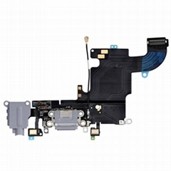 """iPhone 6S 4.7"""" Headphone Jack with Lightning Connector Flex Cable - Dark Grey"""