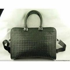 Intrecciato Calf-Skin Leather Briefcase