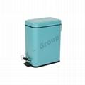 colorful powder coating dust bin pedal bin step bin dustbin 1