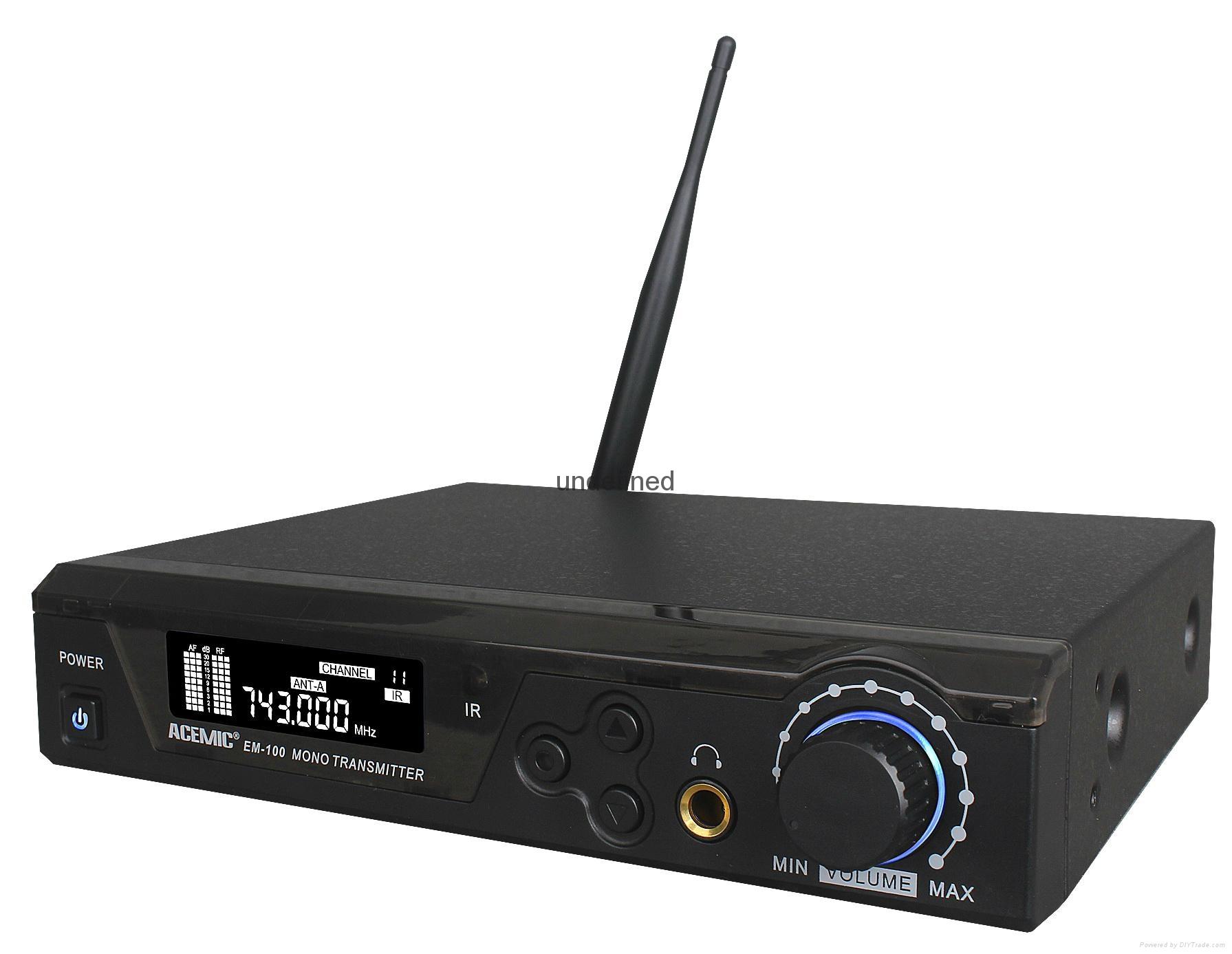 WIRELESS IN-EAR MONITORING SYSTEM   EM-100 3