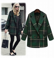 Fleece coat with cotton
