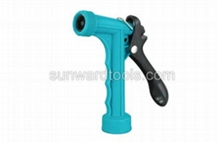 Mid-size polymer rear trigger spray gun with threaded front